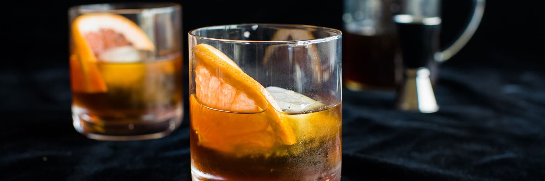 cold brew coffee gin tonic with orange